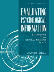 Cover of: Evaluating Psychological Information