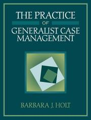 Cover of: The practice of generalist case management