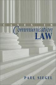 Cover of: Cases in Communication Law | Paul Siegel