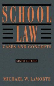Cover of: School Law
