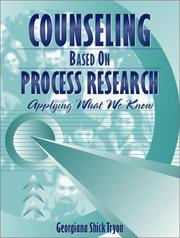Cover of: Counseling Based On Process Research