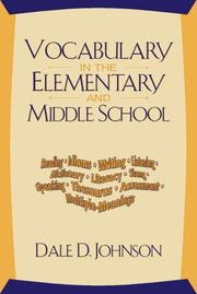 Cover of: Vocabulary in the Elementary and Middle School