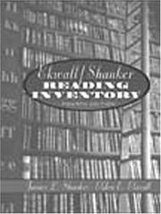 Cover of: Ekwall/Shanker reading inventory