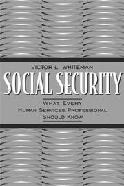 Cover of: Social Security
