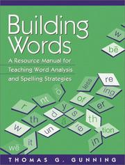 Cover of: Building Words: A Resource Manual for Teaching Word Analysis and Spelling Strategies