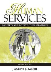 Cover of: Human Services | Joseph Mehr