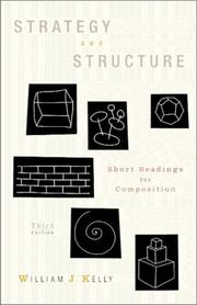 Cover of: Strategy and structure |