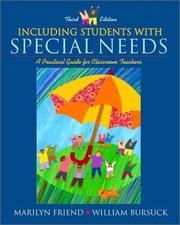 Cover of: Including Students with Special Needs | Marilyn Friend, William D. Bursuck