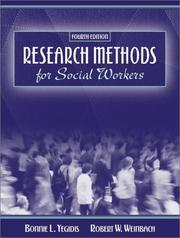 Cover of: Research methods for social workers