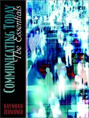 Cover of: Communicating Today | Raymond Zeuschner