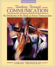 Cover of: Thinking through communication