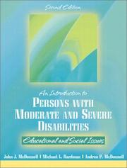 Cover of: introduction to persons with moderate and severe disabilities | McDonnell, John J.