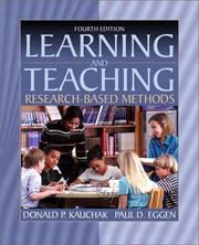 Learning and teaching by Donald P. Kauchak