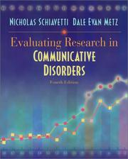 Cover of: Evaluating research in communicative disorders