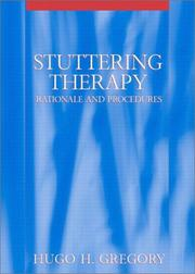 Cover of: Stuttering Therapy | Hugo H. Gregory