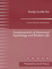 Cover of: Fundamentals Abnormal Psychology