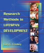 Cover of: Research methods in lifespan development | Gary Creasey