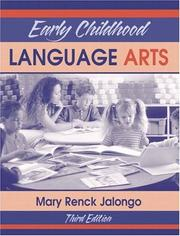 Cover of: Early childhood language arts
