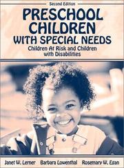 Cover of: Preschool children with special needs