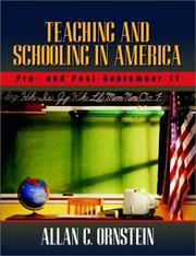Cover of: Teaching and Schooling in America