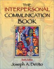 Cover of: The Interpersonal Communication Book by Joseph A. DeVito