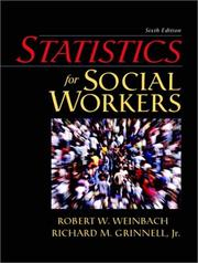 Statistics for social workers by Robert W. Weinbach