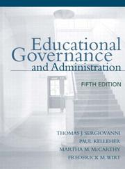 Cover of: Educational governance and administration |