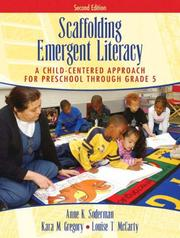 Cover of: Scaffolding Emergent Literacy | Anne K. Soderman