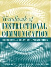 Cover of: Handbook of instructional communication