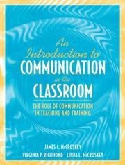 Cover of: An introduction to communication in the classroom