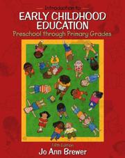 Cover of: Introduction to early childhood education | Jo Ann Brewer