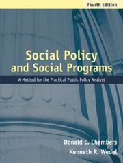 Cover of: Social policy and social programs | Donald E. Chambers