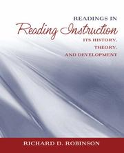 Cover of: Readings in reading instruction