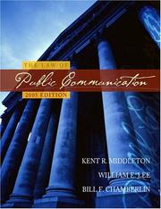 Cover of: The law of public communication