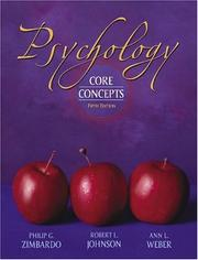 Cover of: Psychology : core concepts