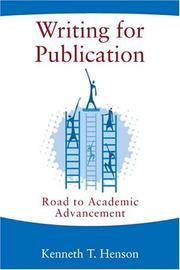 Cover of: Writing for publication