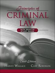 Cover of: Principles of criminal law | Harvey Wallace
