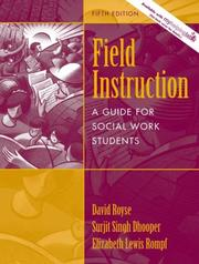 Cover of: Field Instruction | David D. Royse