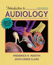 Cover of: Introduction to Audiology | Frederick N. Martin