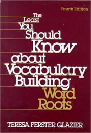 Cover of: least you should know about vocabulary building | Teresa Ferster Glazier