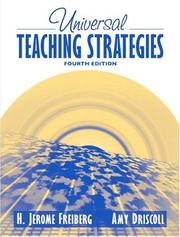 Cover of: Universal Teaching Strategies, MyLabSchool Edition (4th Edition) | H. Jerome Freiberg