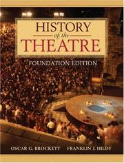 Cover of: History of the Theatre, Foundation Edition | Oscar G. Brockett