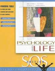 Cover of: Psychology and Life- SOS Edition (Paper) |