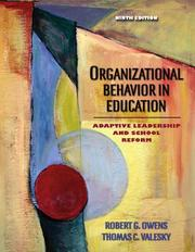 Cover of: Organizational Behavior in Education | Robert G. Owens
