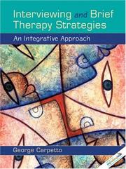 Cover of: Interviewing and Brief Therapy Strategies