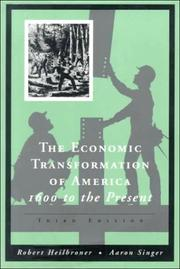 Cover of: The economic transformation of America