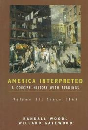Cover of: America interpreted by