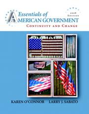 Cover of: Essentials of American Government | Karen O