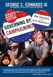 Cover of: Governing by Campaigning | George C. Edwards III