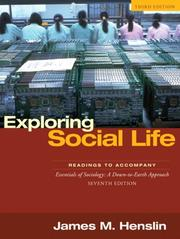 Cover of: Exploring Social Life